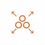 Orange Circles Icon