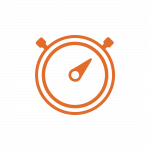 Orange Stopwatch Icon